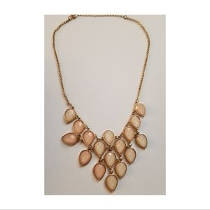 Peachy Stone Waterfall Statement Necklace